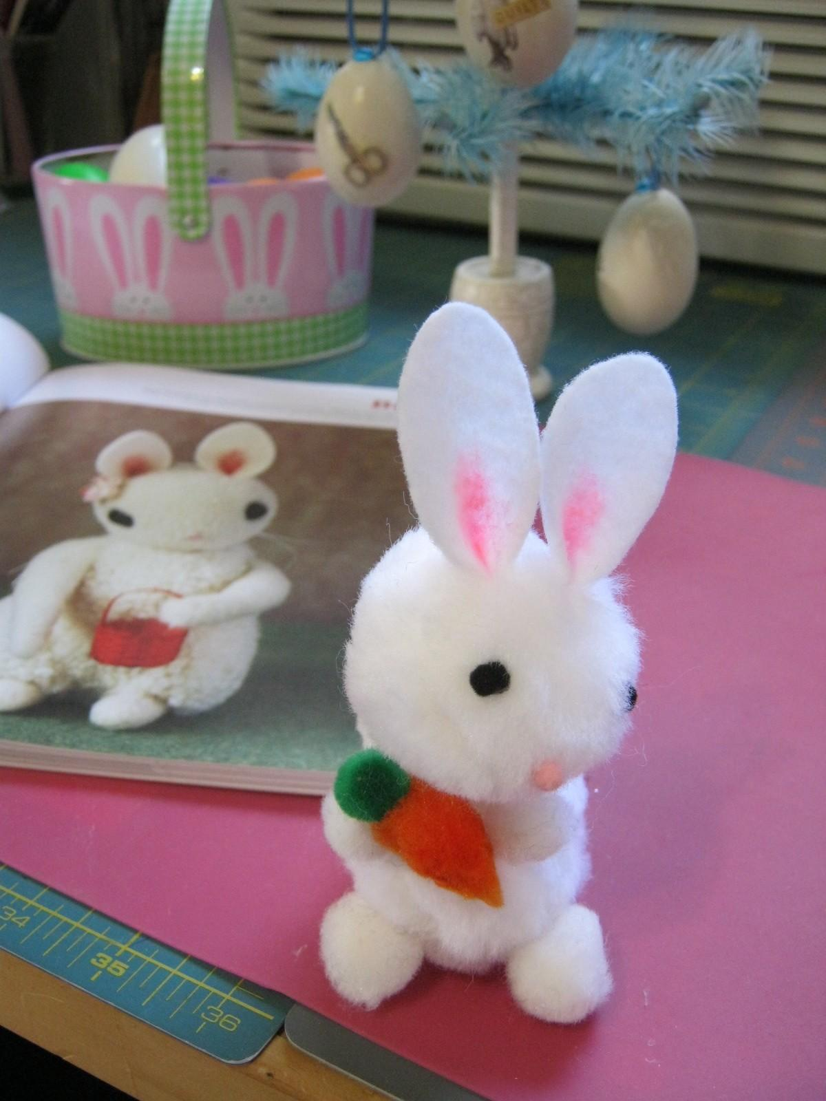 Sweater Surgery Make Pom Easter Bunny