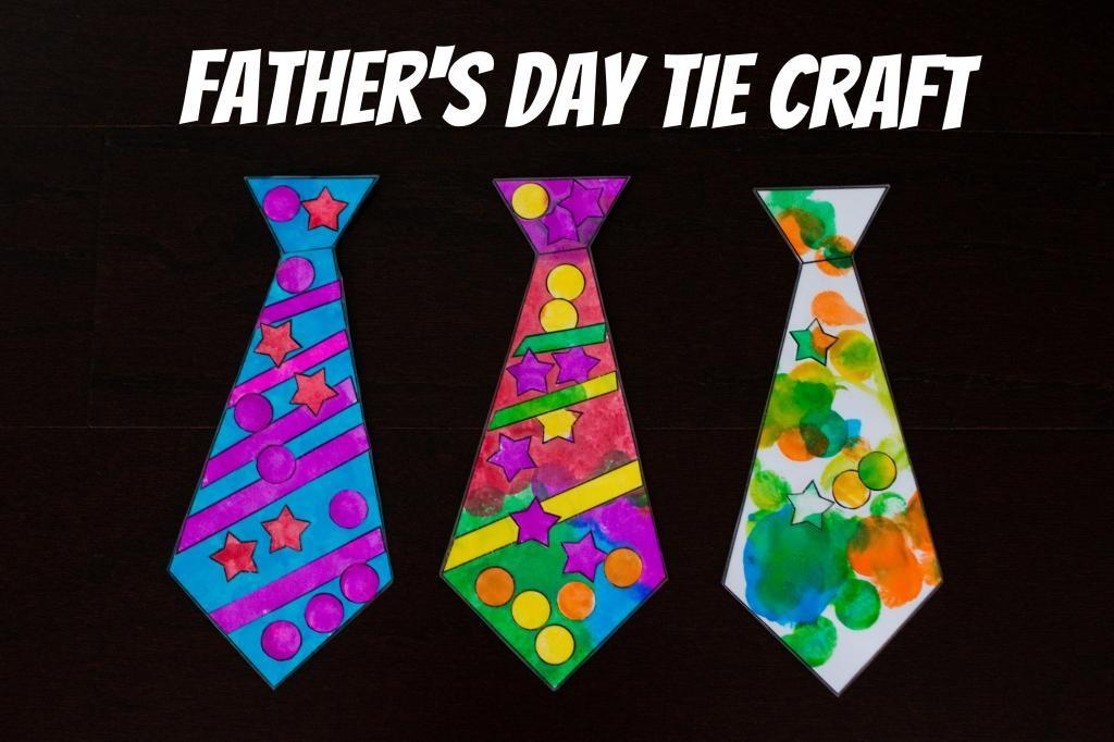 Sweatman Family Father Day Tie Craft
