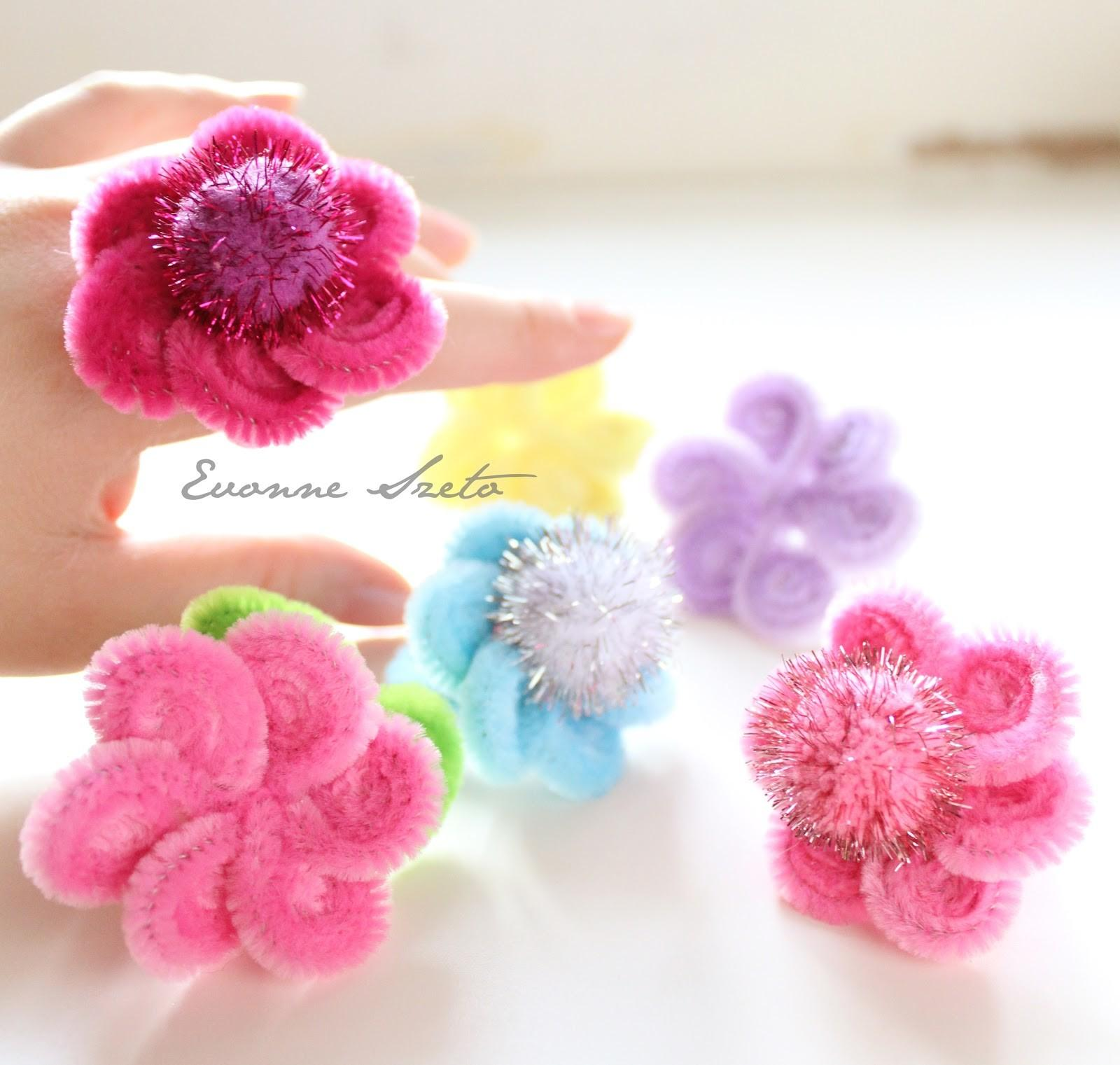 Sweet Heart Pipe Cleaner Daisy Rings Tutorial
