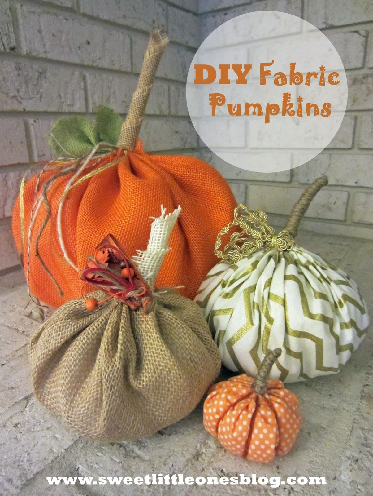 Sweet Little Ones Diy Fabric Burlap Pumpkins