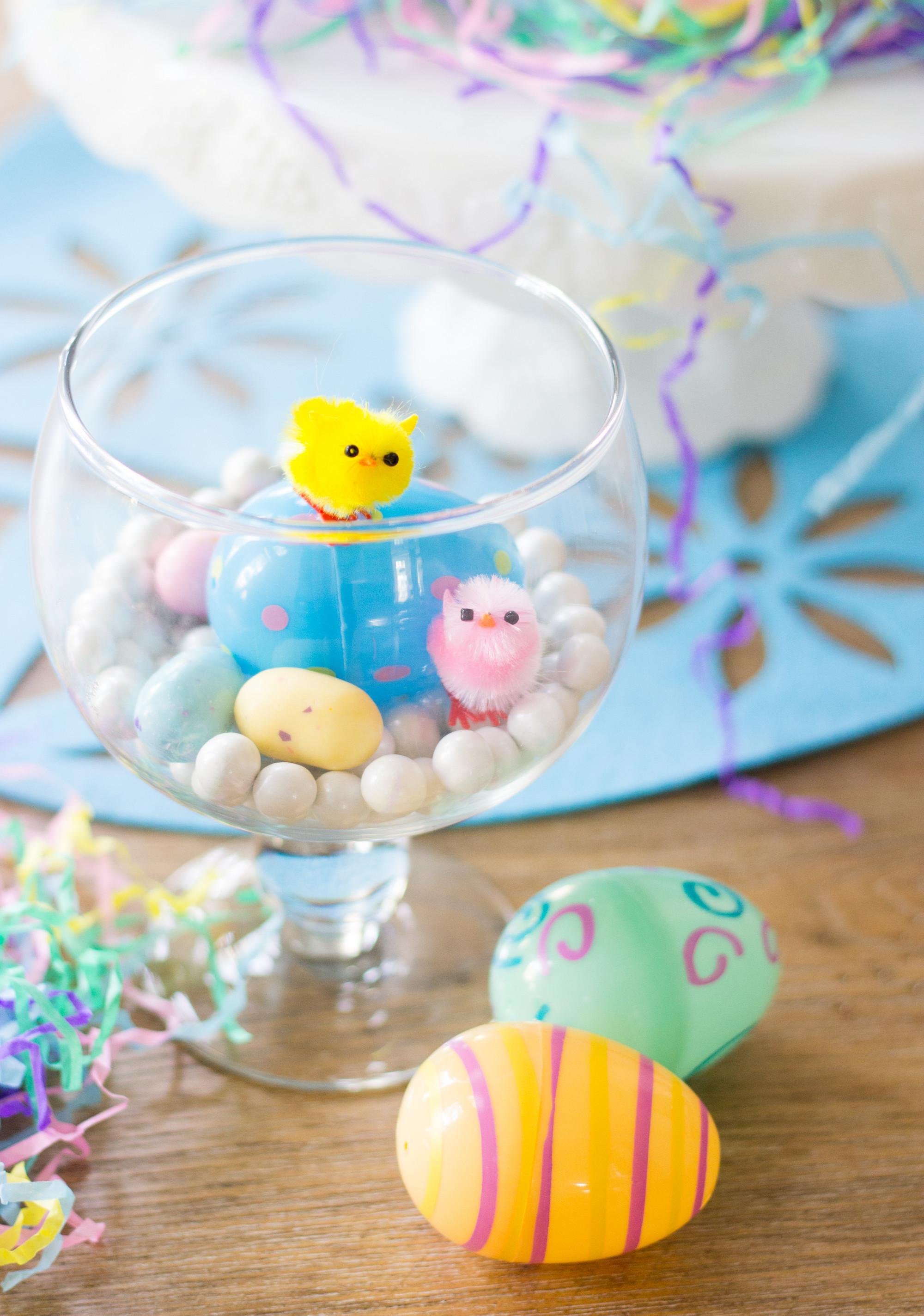 Sweet Simple Colorful Easter Terrariums