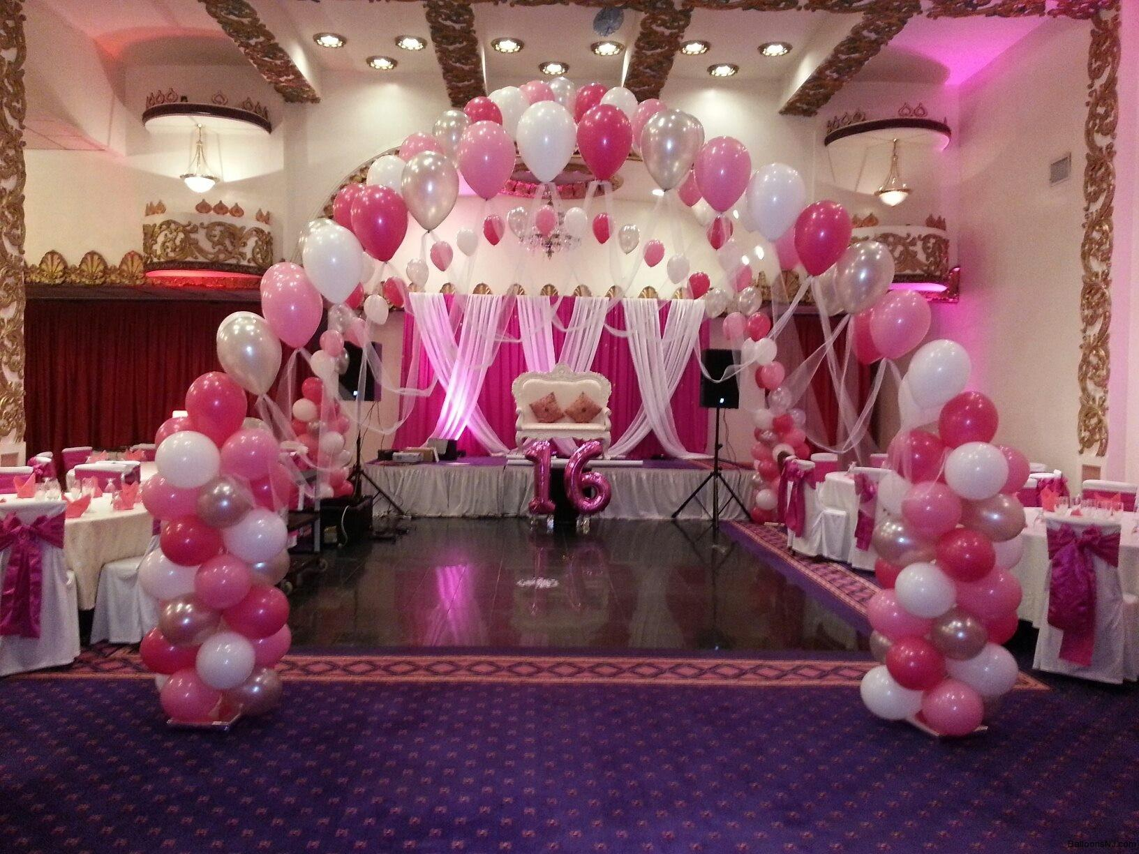 Sweet Sixteen Party Decoration Ideas Pink Theme