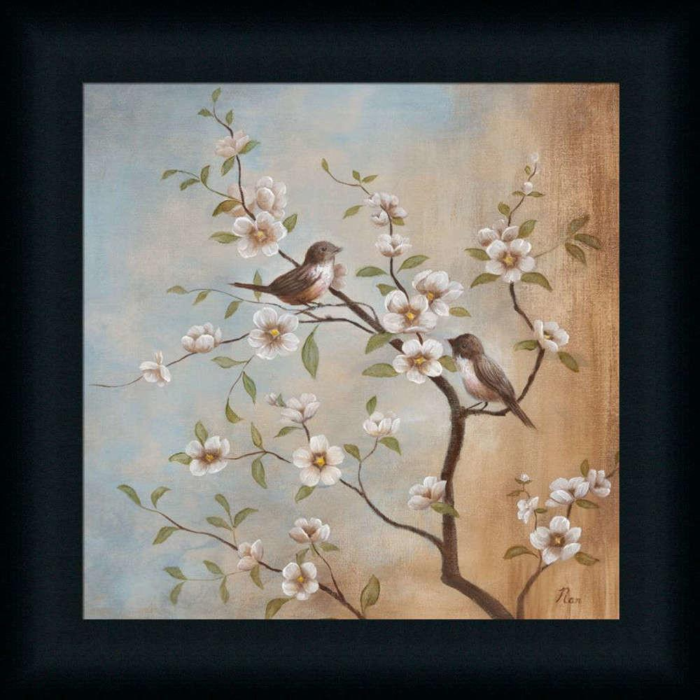 Sweet Song Nan Asian Floral Bird Framed Art Print