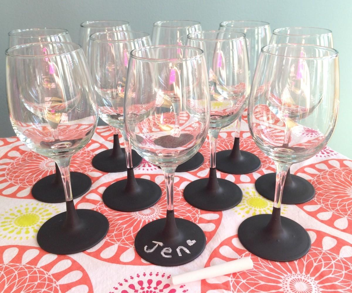 Sweet Speckled Tumbler Glasses Painted Wine Glass