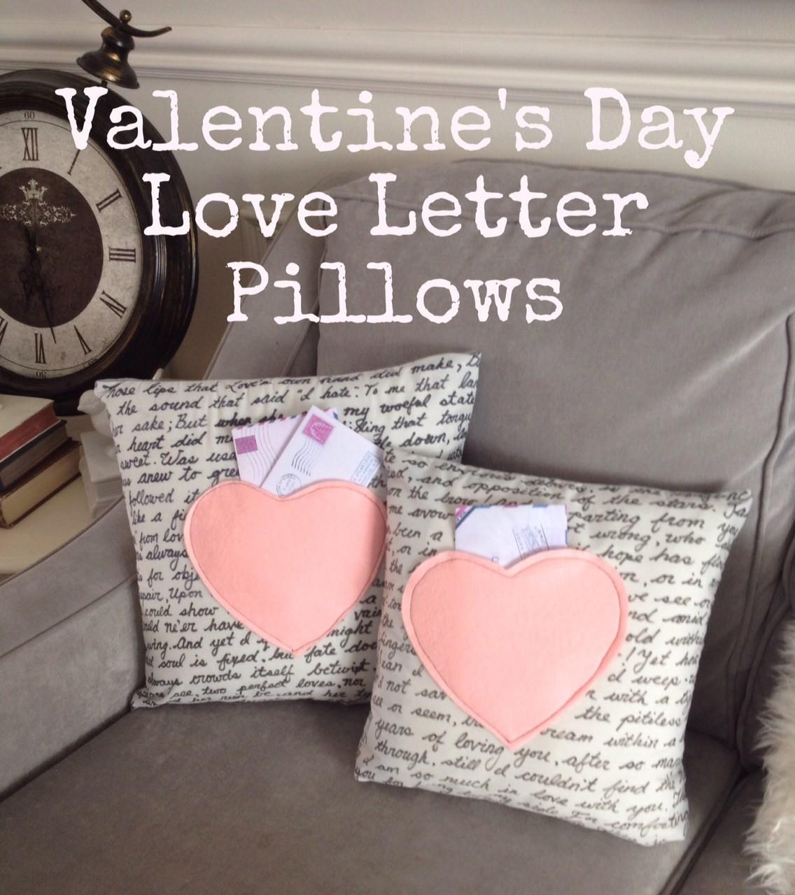 Sweet Valentine Day Love Letter Cushions Purdy