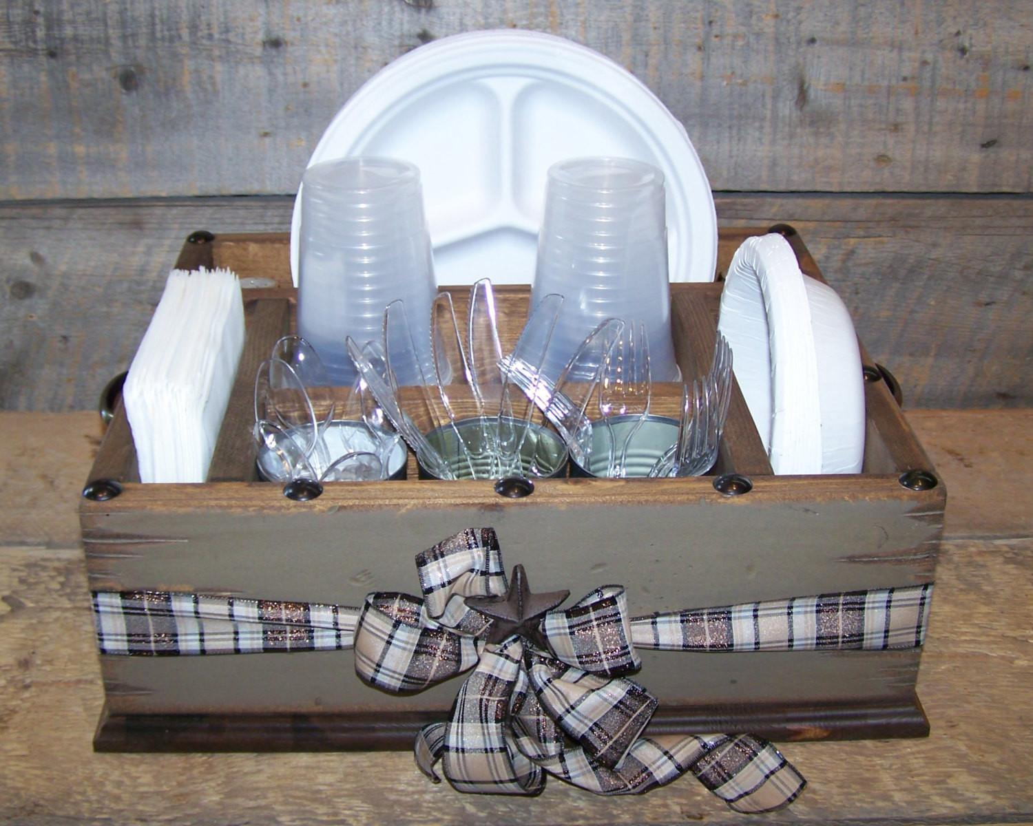Table Caddy Napkin Holder Paper Plate