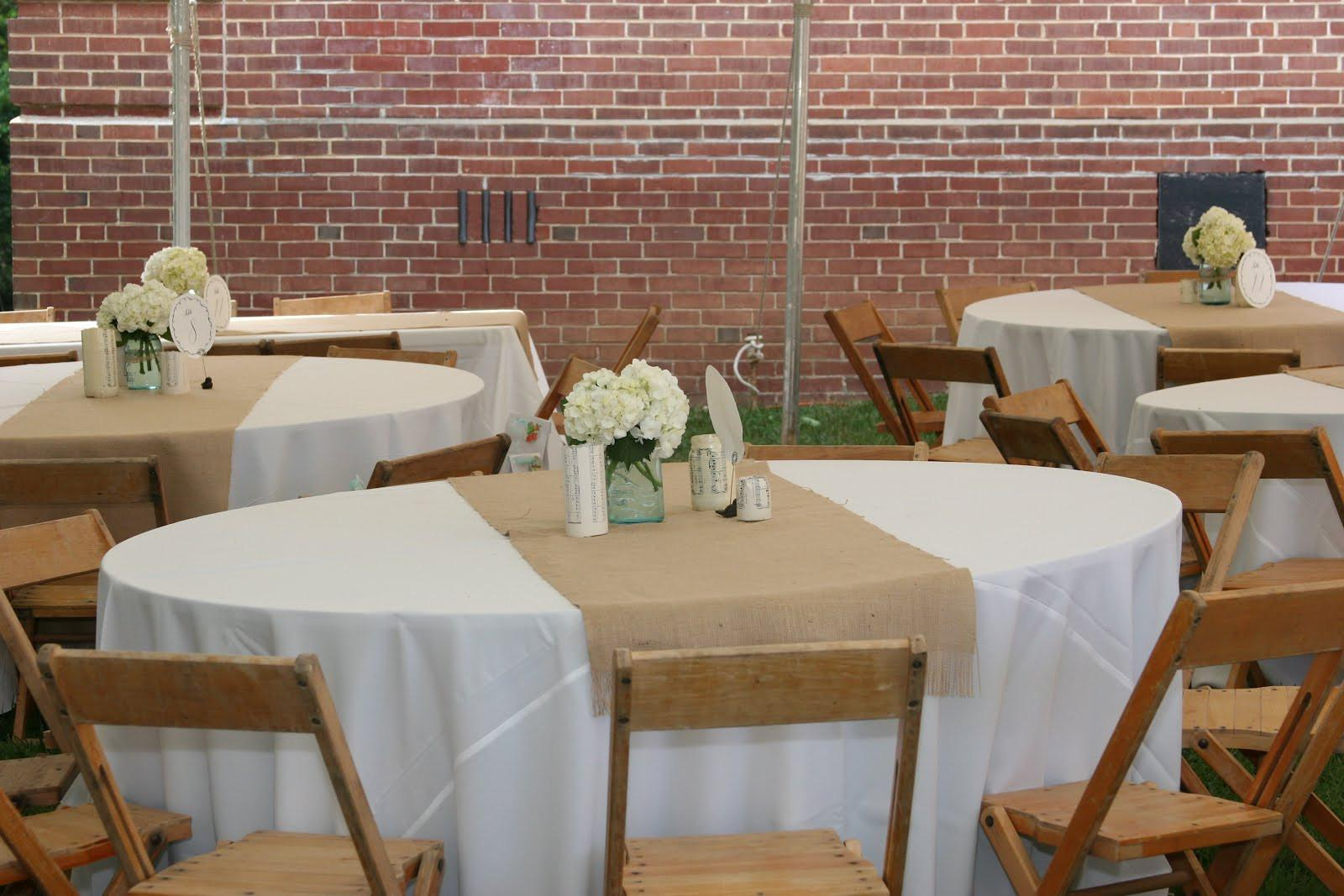 Table Decorating Burlap Wedding Party Decor