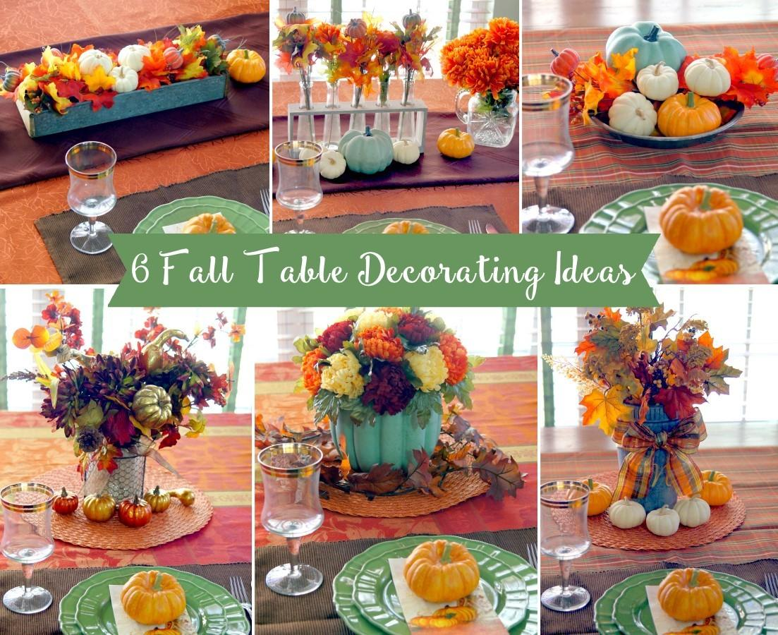 Table Decorating Ideas Fall Thanksgiving