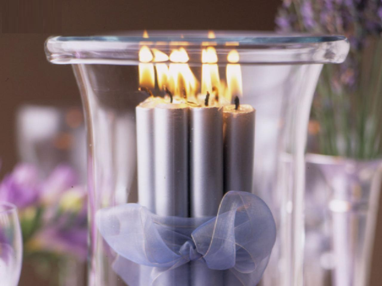 Table Decorations Candles Interior Home Design
