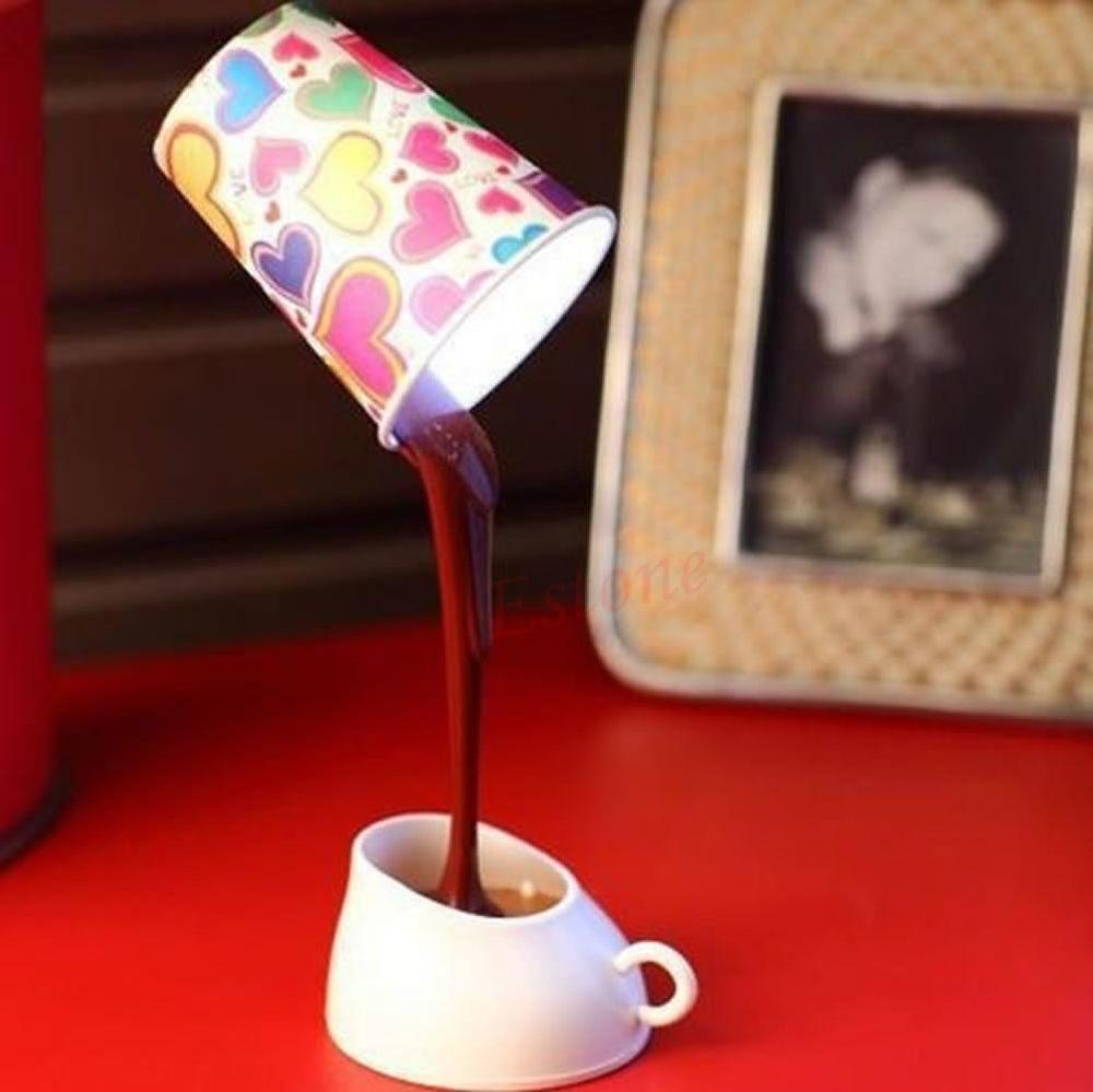 Table Lamp Home Romantic Pour Coffee Usb Battery Night