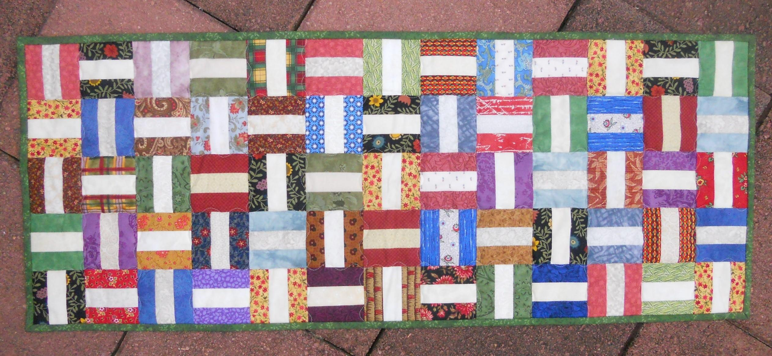Table Tiles Quilted Runner Abyquilts