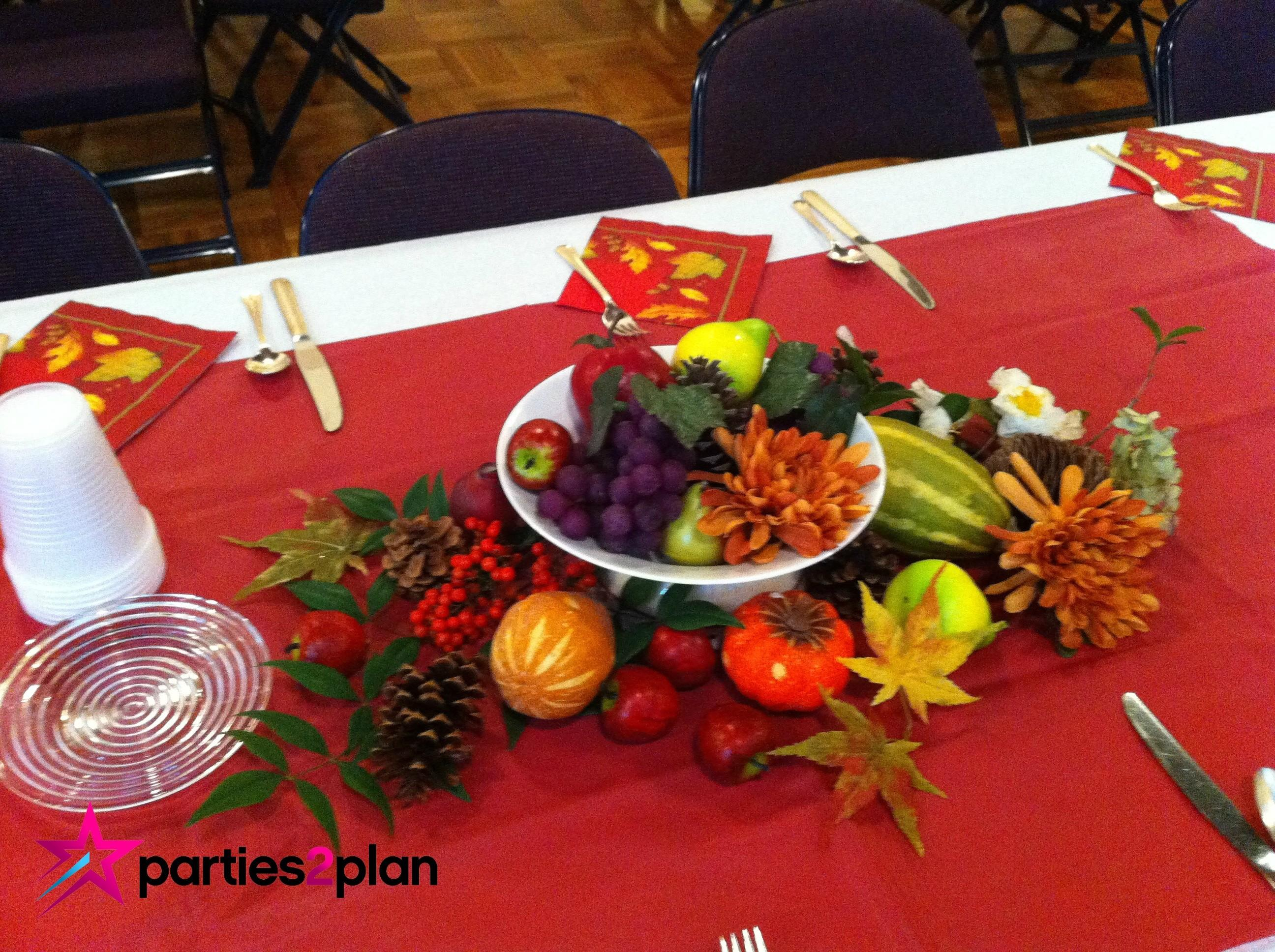 Tablescape Fall Table Decorations Group Luncheon