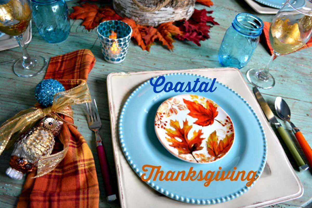 Tablescapes Coastal Thanksgiving Painted Apron