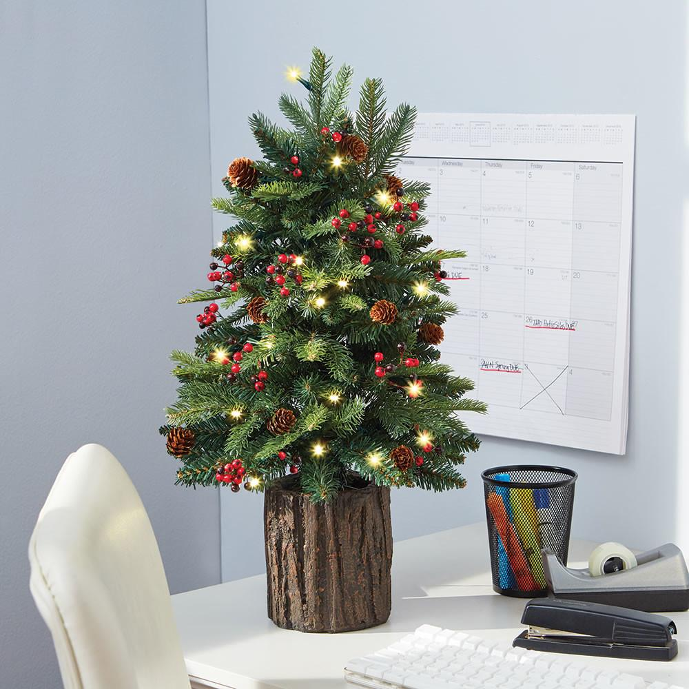 Tabletop Prelit Christmas Tree Hammacher Schlemmer
