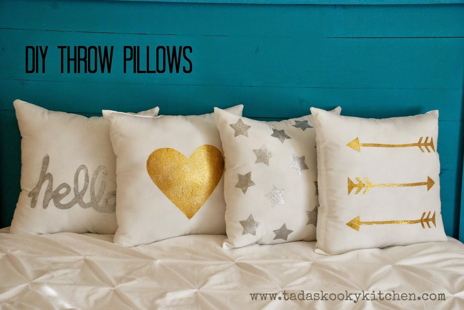 Tada Kooky Kitchen Diy Throw Pillows