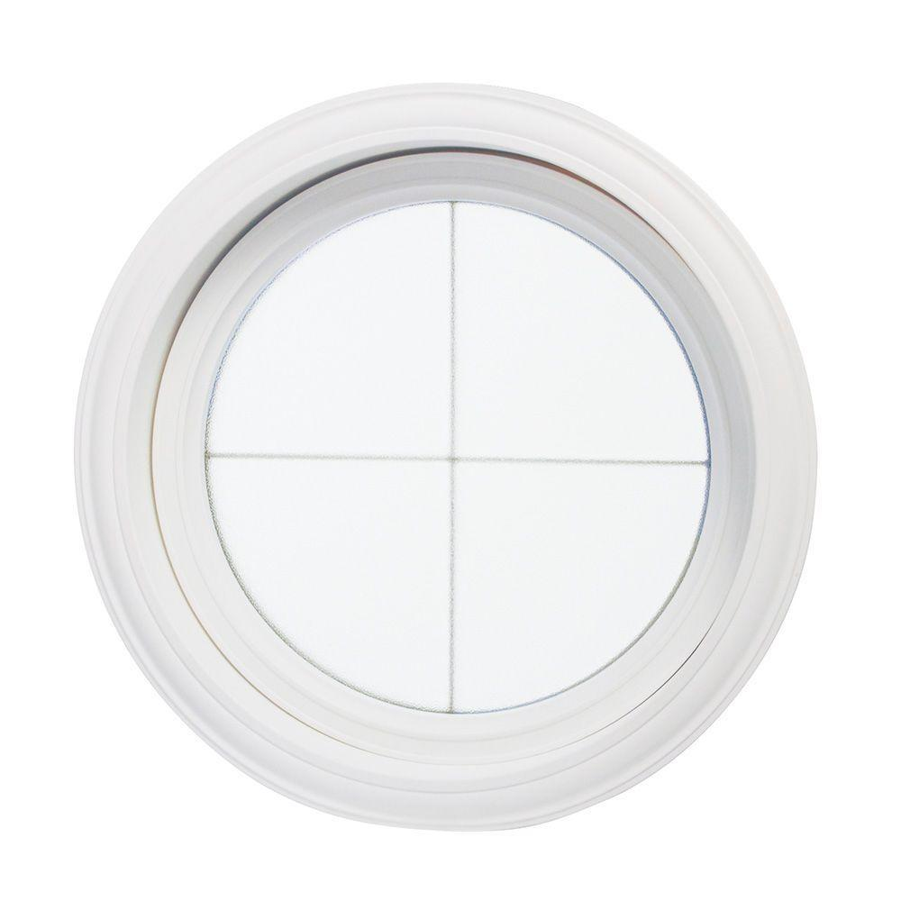Tafco Windows Obscure Glass Round