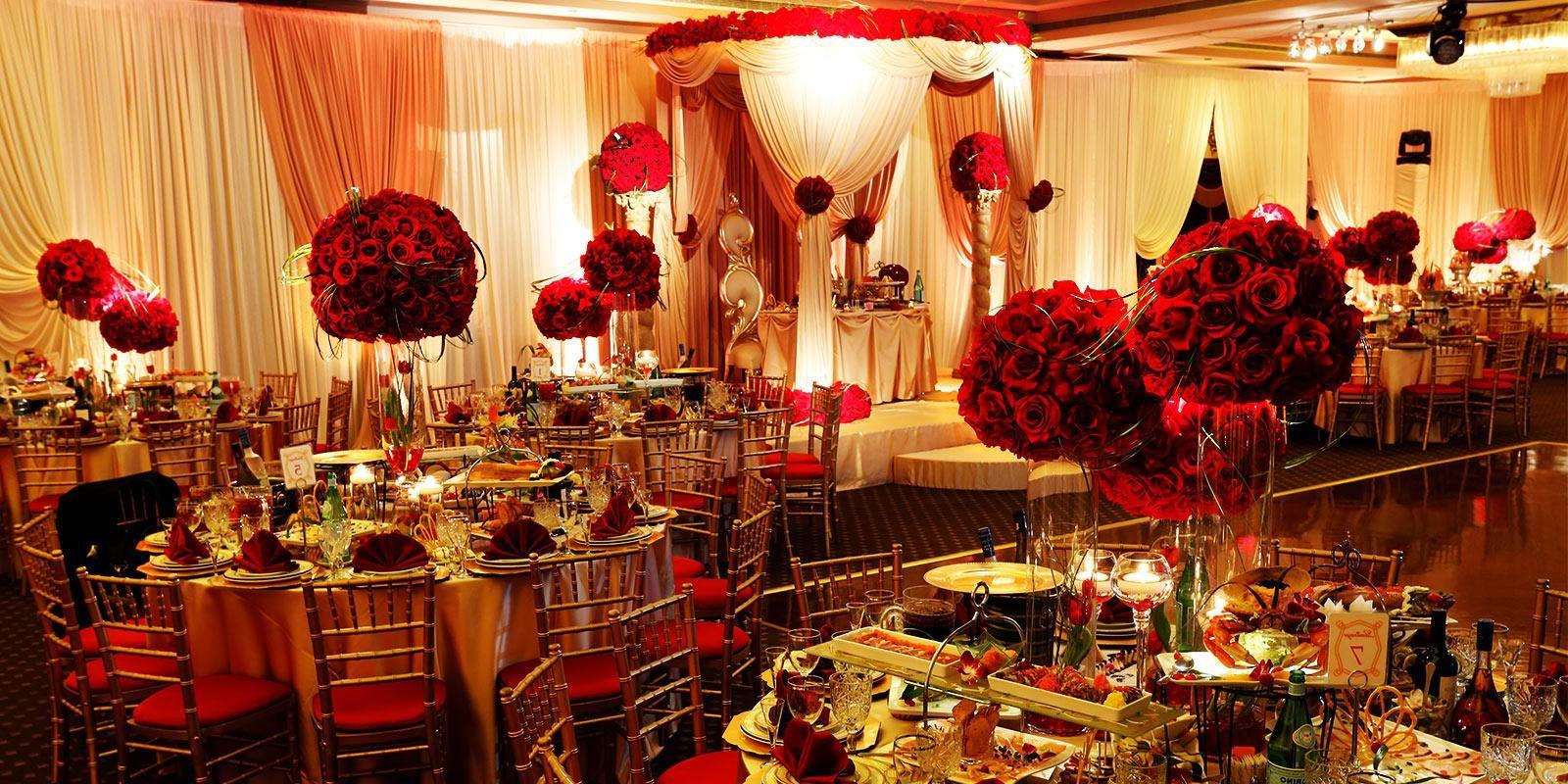 Tag Red Gold Wedding Table Decorations