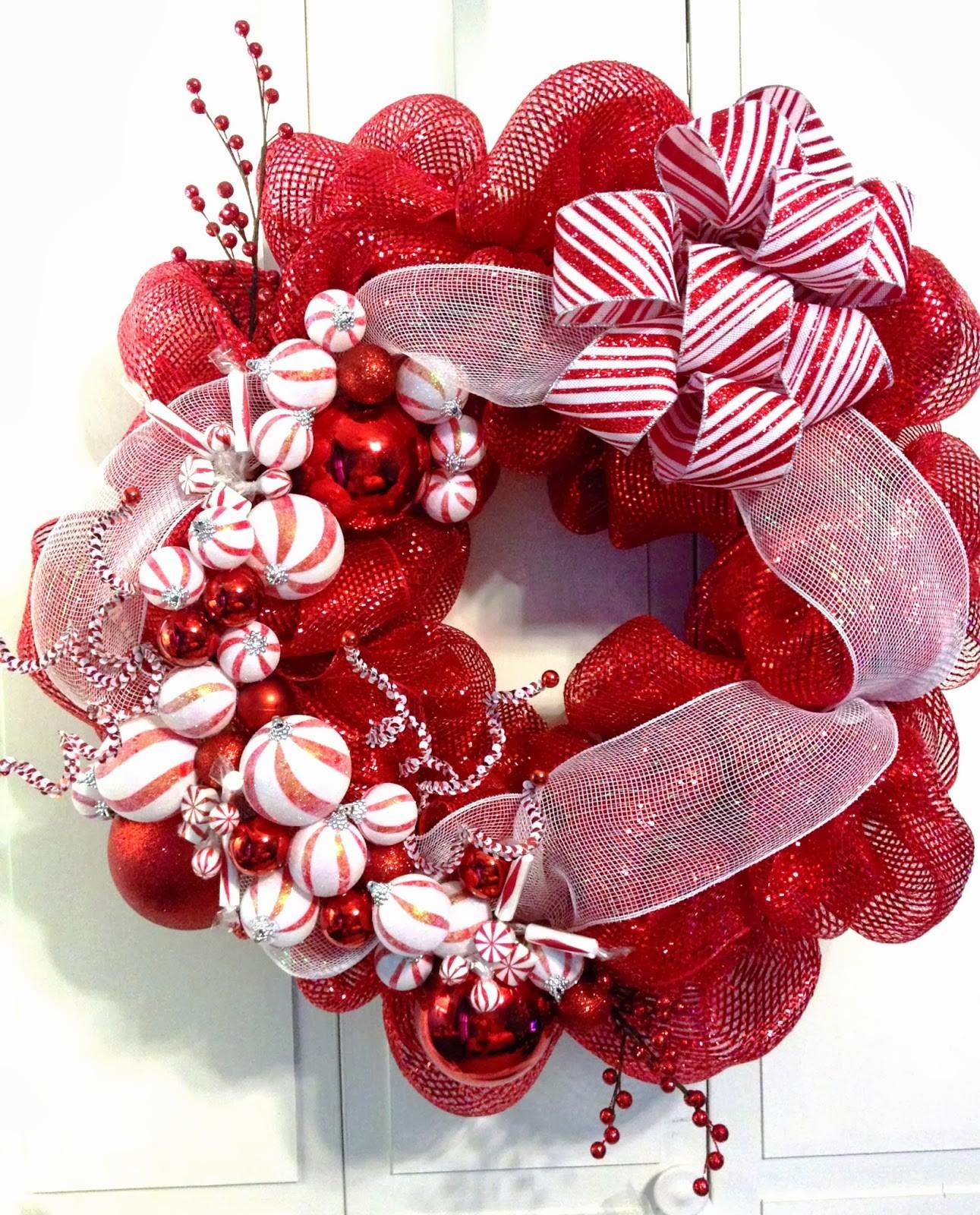 Tangled Wreaths Christmas Holiday Deco Mesh Red