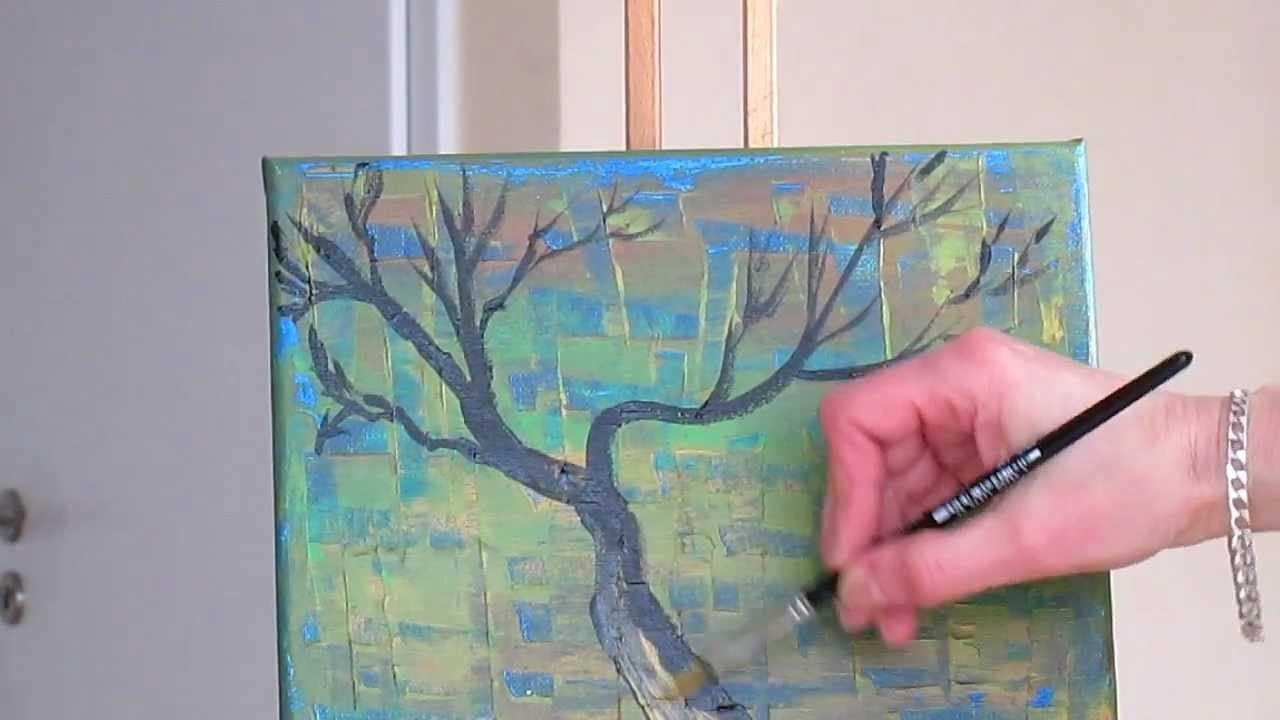 Tanja Bell Abstract Art Paint Tree Branches