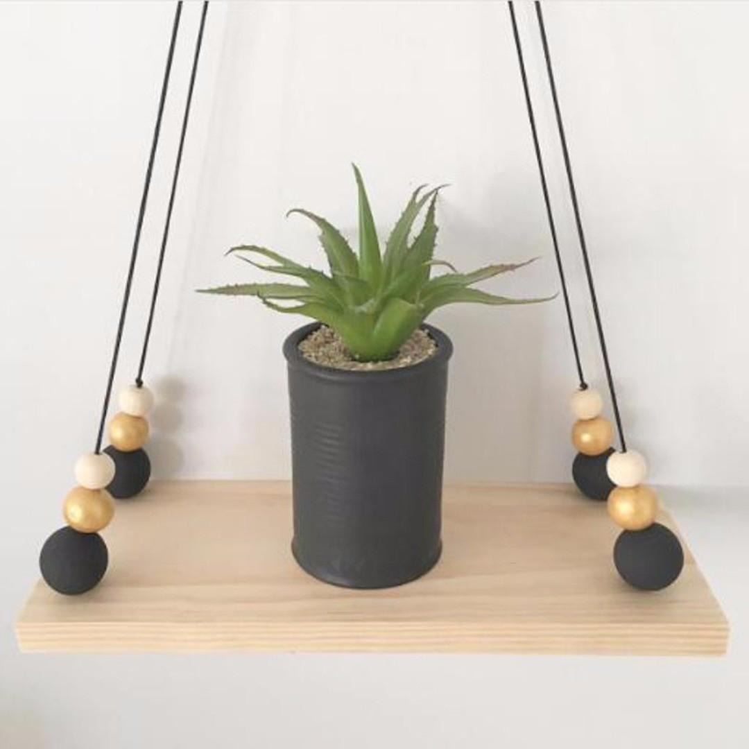 Tassel Wood Swing Shelf Wall Hanging Pendant Ornament