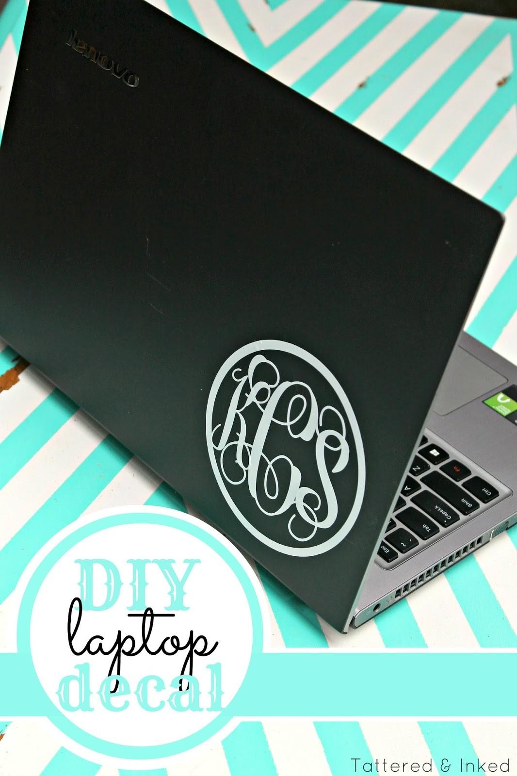 Tattered Inked Diy Laptop Decal First Silhouette