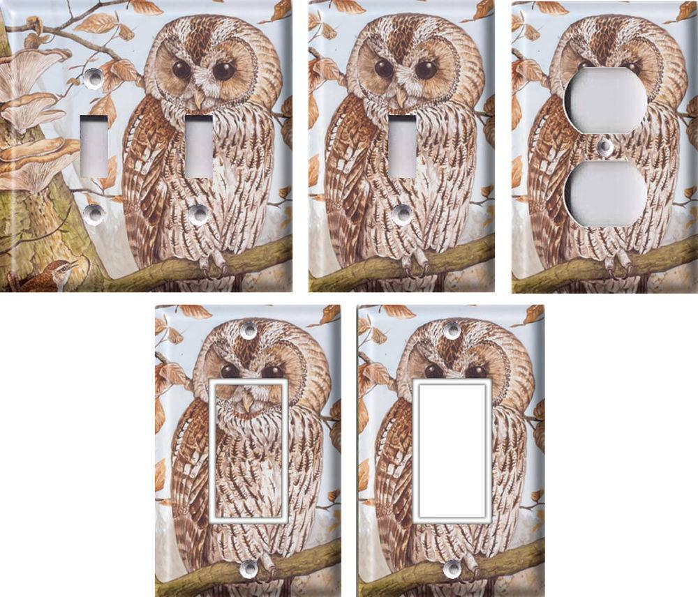 Tawny Owl Light Switch Covers Home Decor Outlet