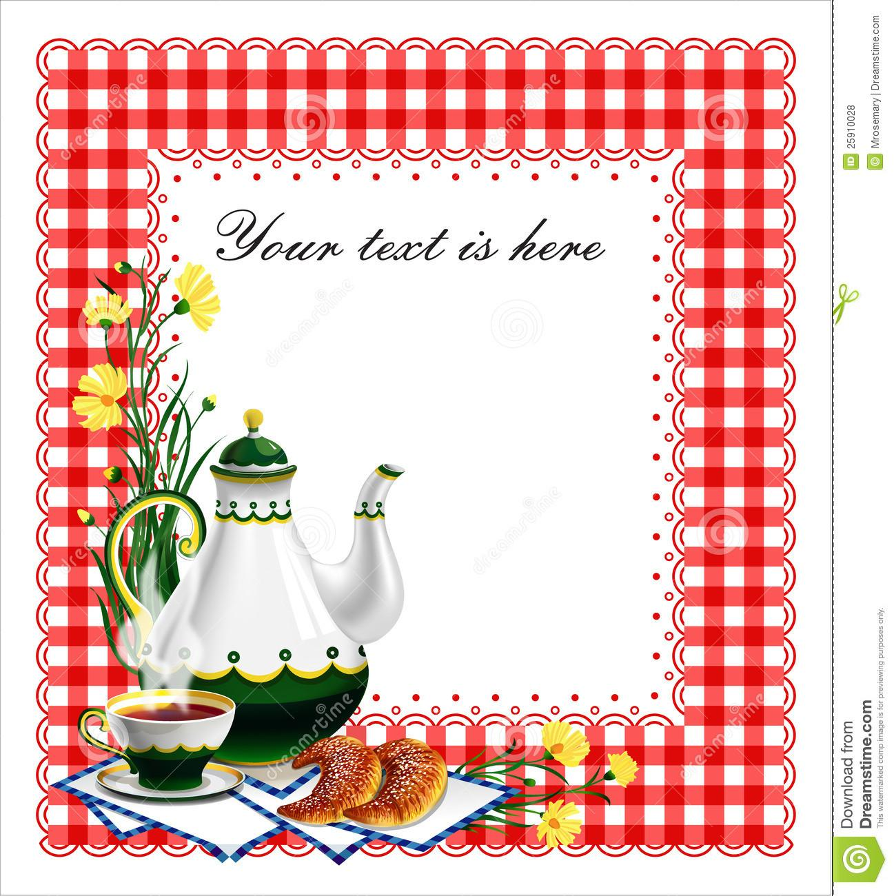 Tea Party Clipart Holiday Pencil Color