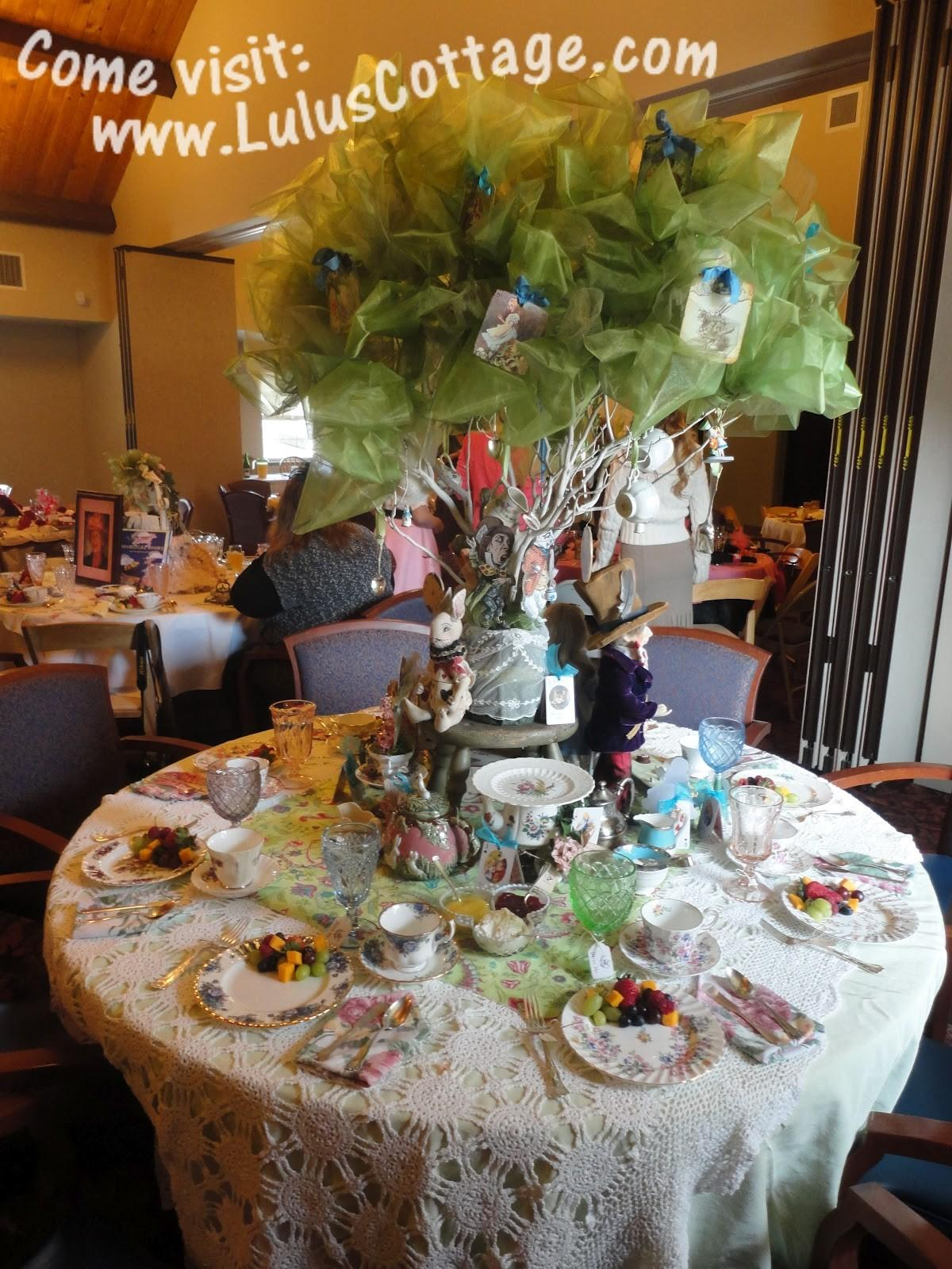 Tea Party Table Decoration Photograph Easter Setting