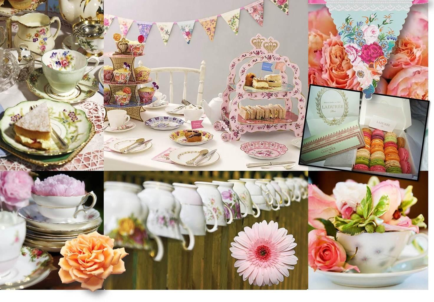 Tea Party Table Decoration Photograph Jubilee Olympic