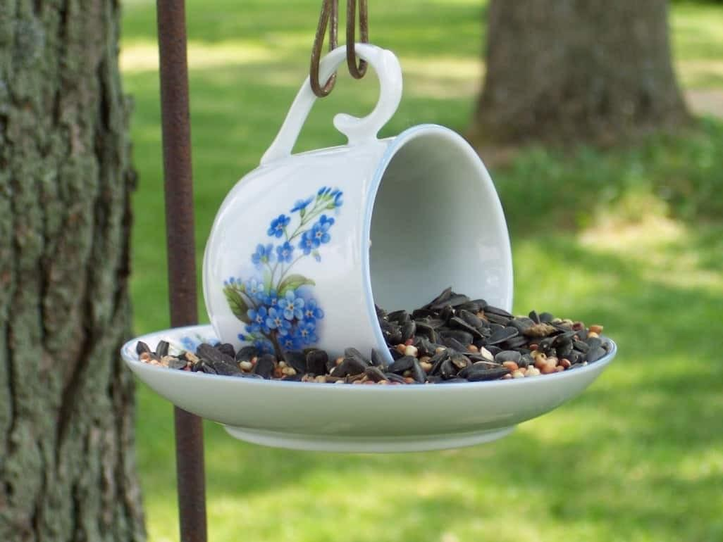 Teacup Bird Feeders Diy Very Easy Video Instructions