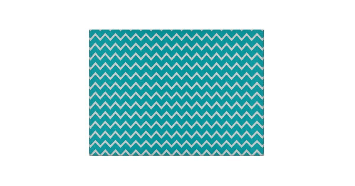 Teal Turquoise Blue Chevron Zigzag Pattern Cutting Board