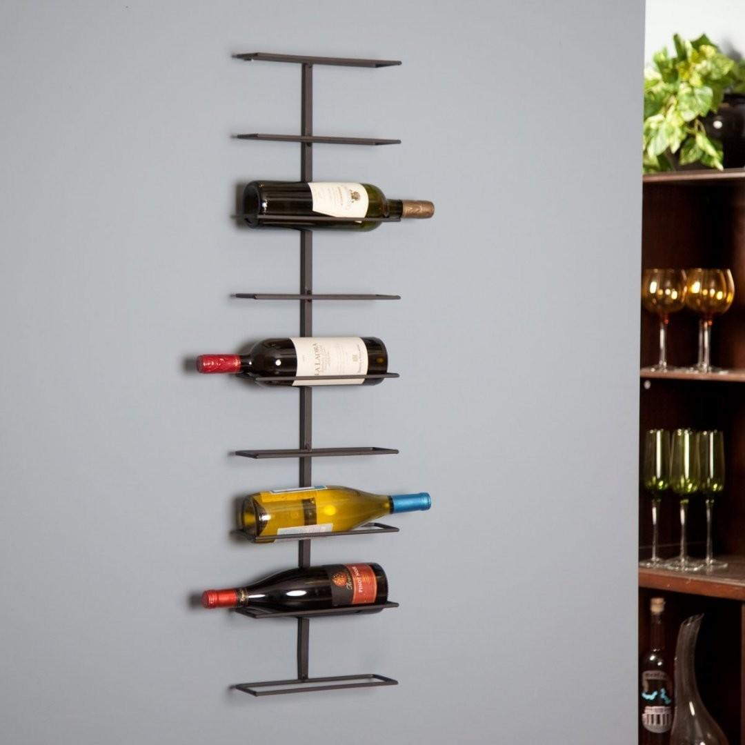 Teal Wall Hanging Wine Rack Personalized Barrel Stave