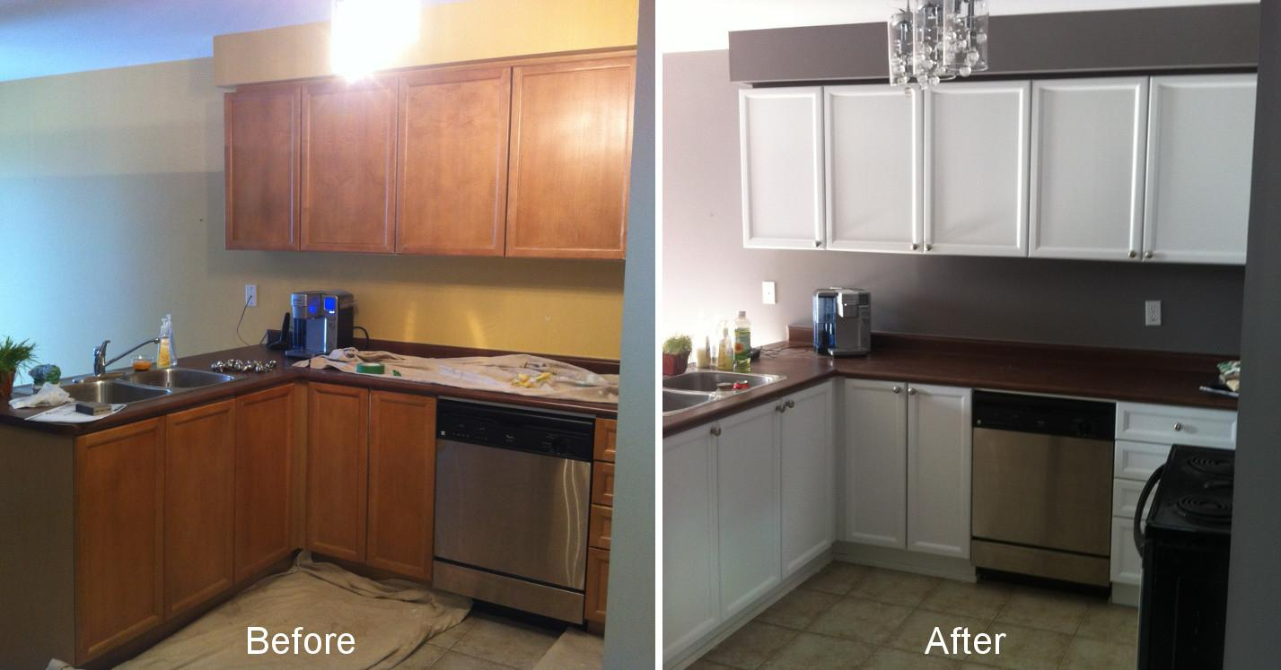 Techniques Creating Refinished Kitchen Cabinets Before
