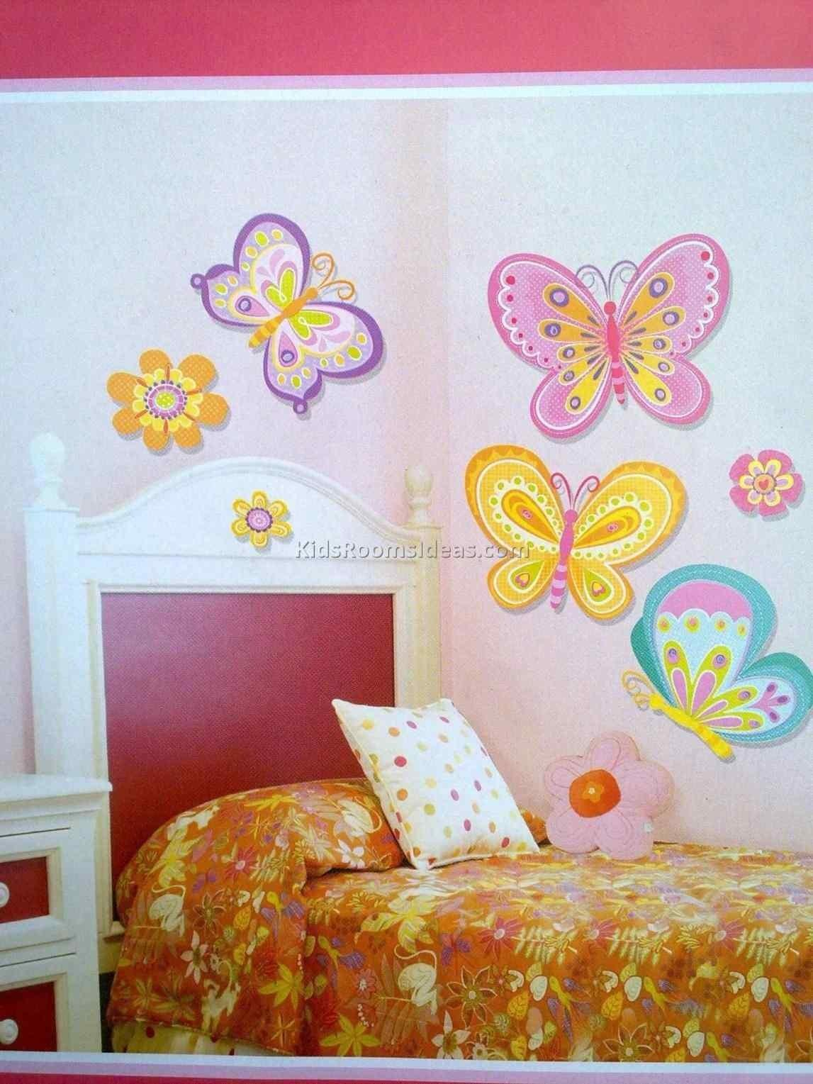 Teenage Bedroom Ideas White Flower Wall Decal