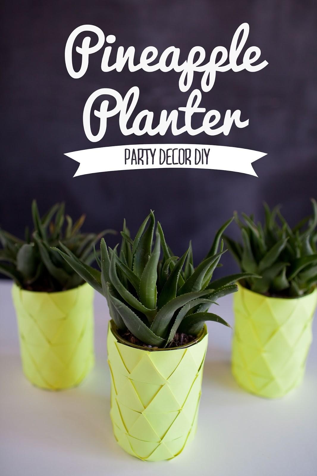 Tell Pineapple Planter Love Party