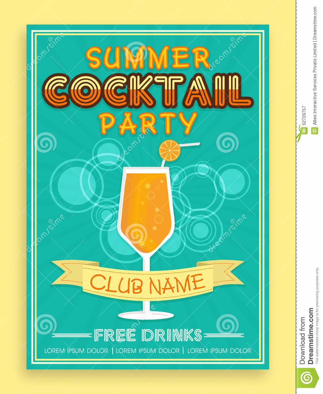 Template Brochure Flyer Design Cocktail Party