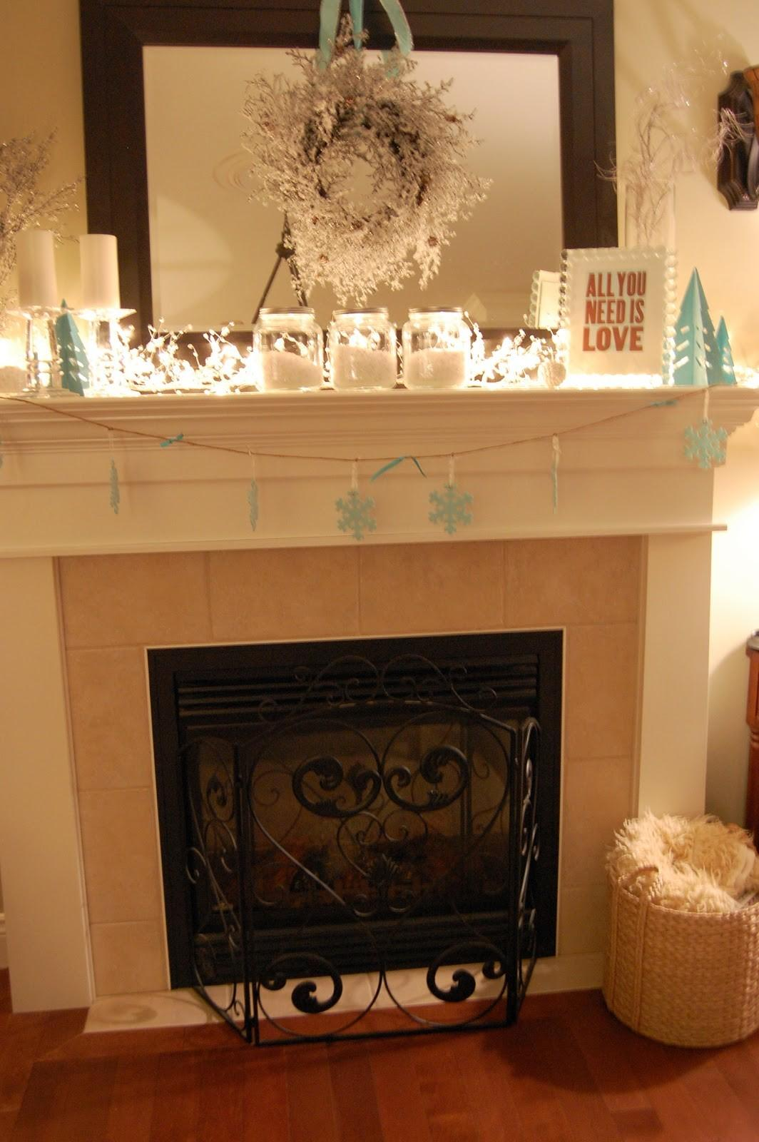 Ten June Three Steps Cozy Winter Mantel
