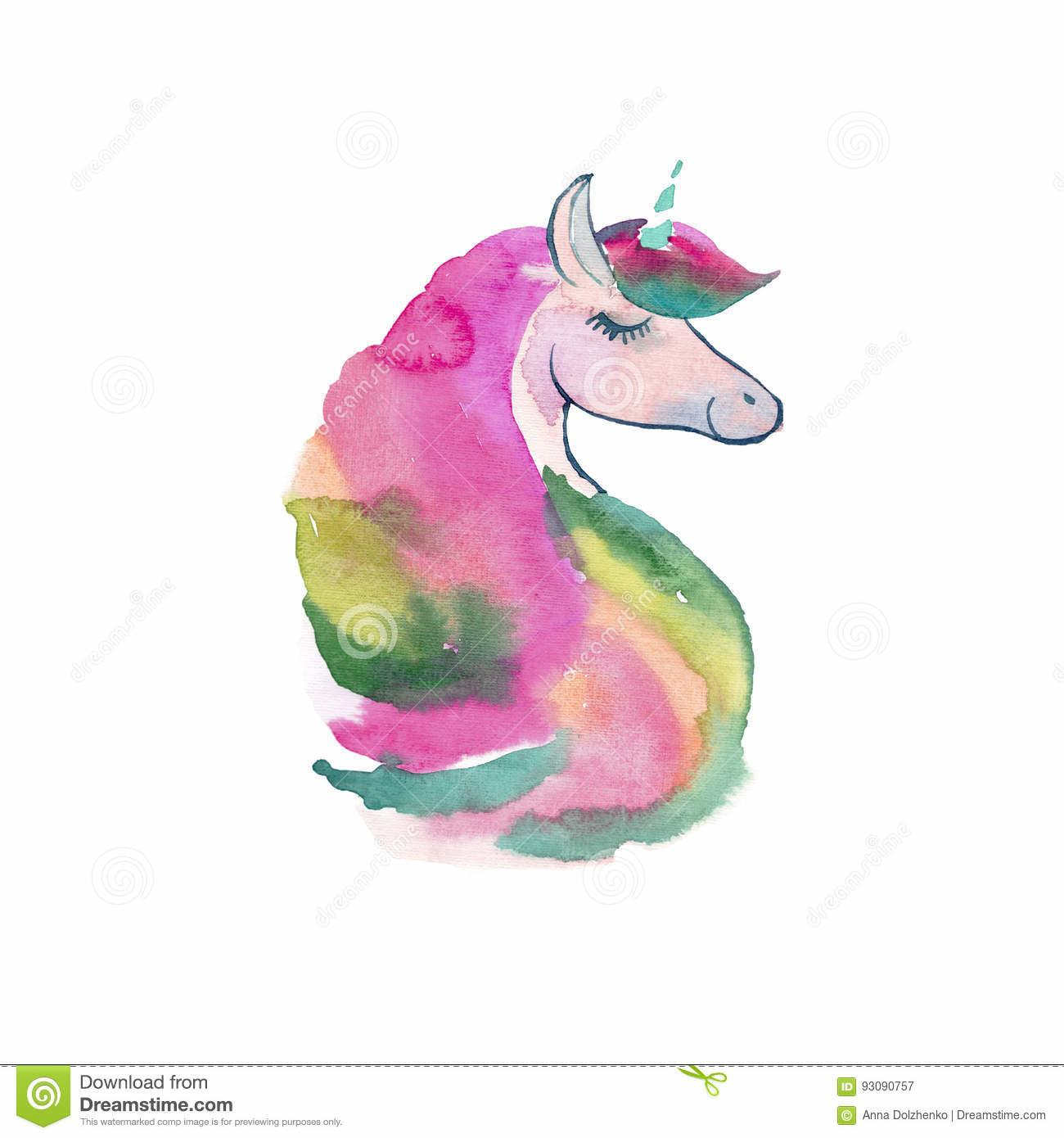 Tender Lovely Cute Fairy Magical Colorful Unicorn