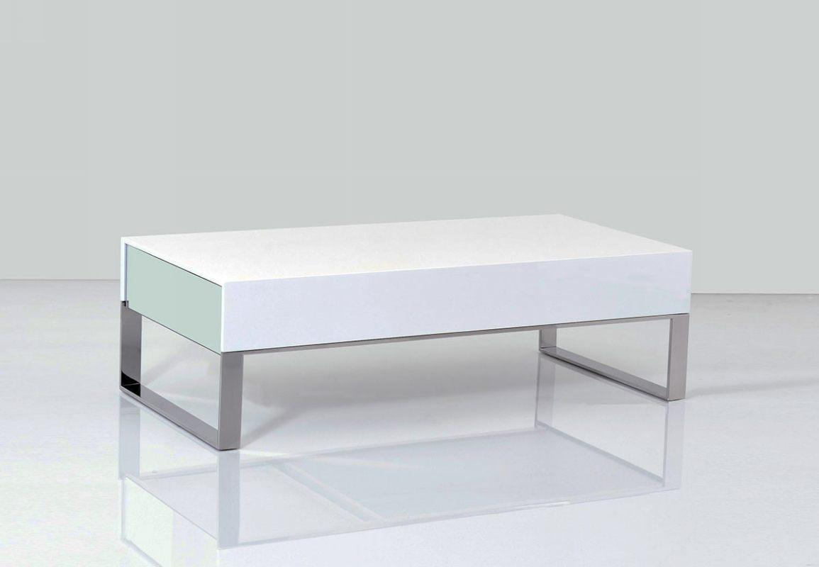 Terbium Modern White Glossy Coffee Table