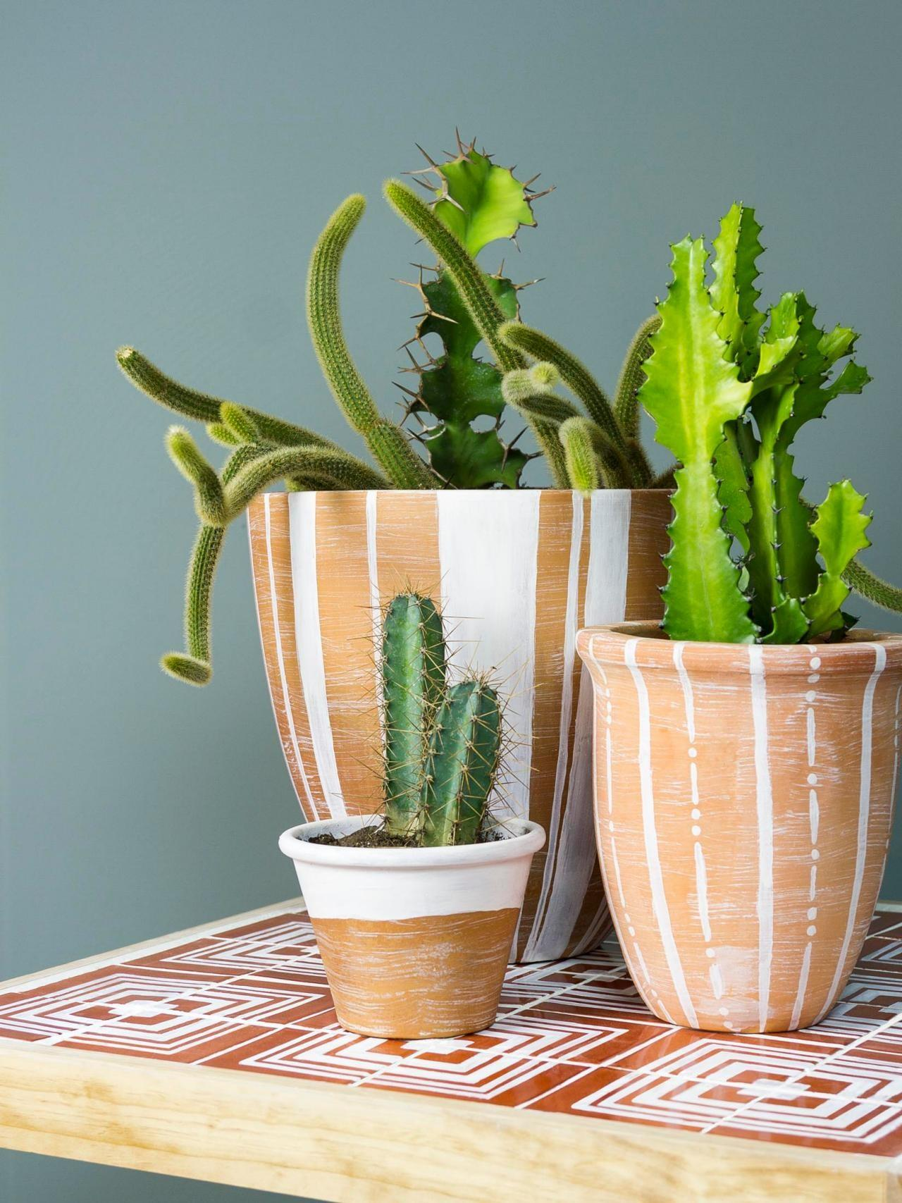 Terra Cotta Pots Tile Table Create