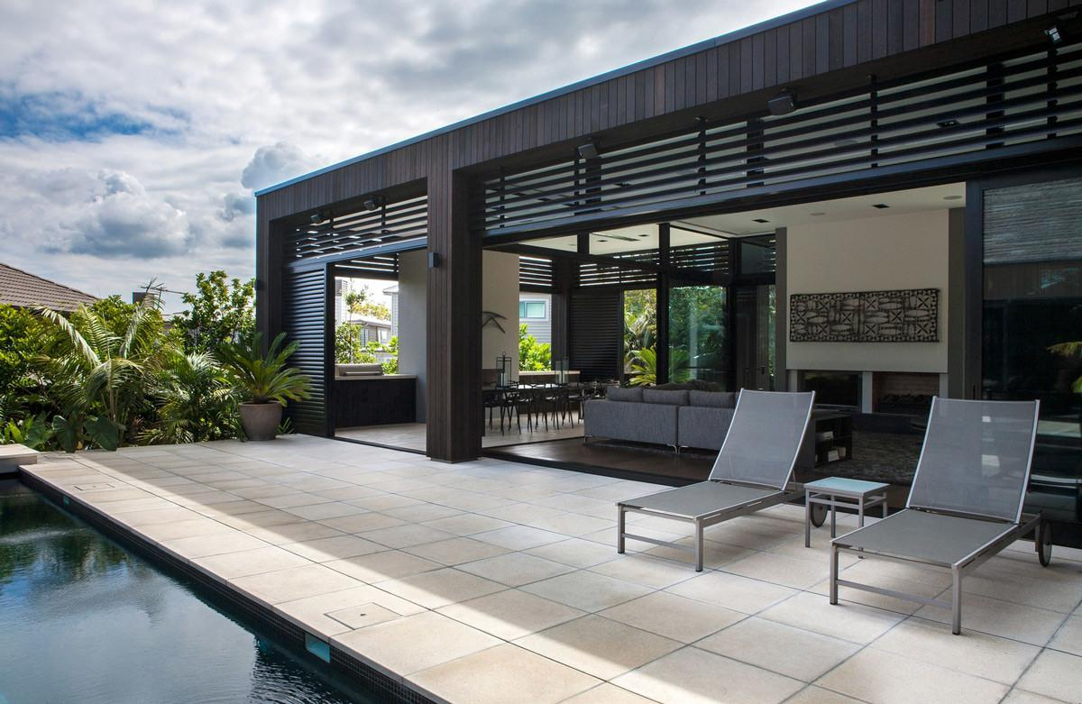 Terrace Outdoor Living Modern House Auckland New Zealand
