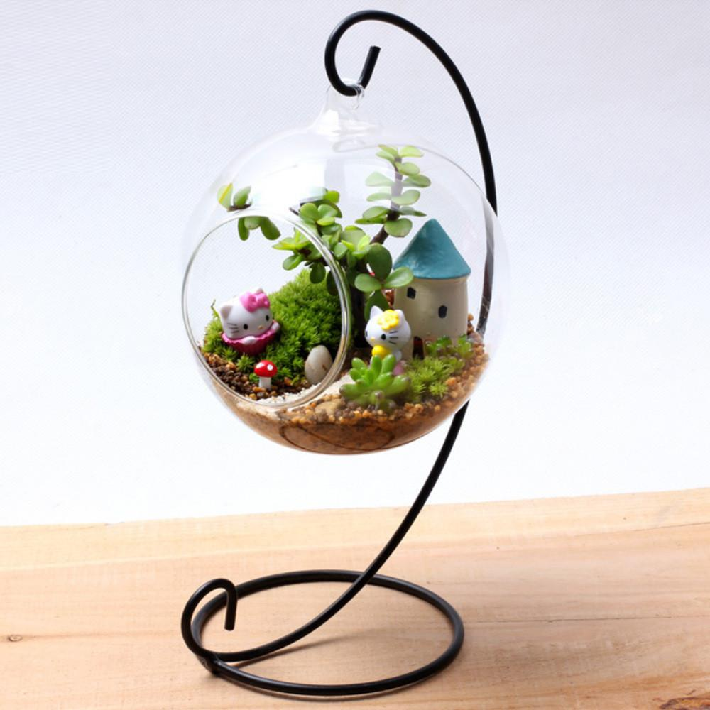 Terrarium Glass Air Plant Containers Stand Table