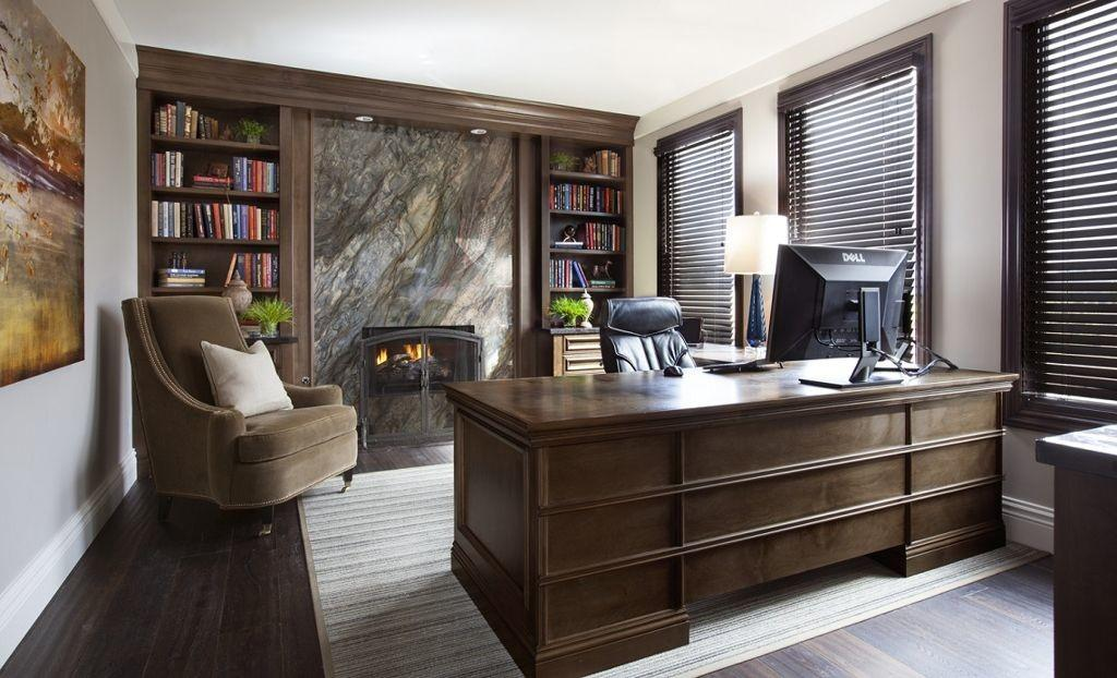 Terrific Luxury Home Office Design Marble Wall