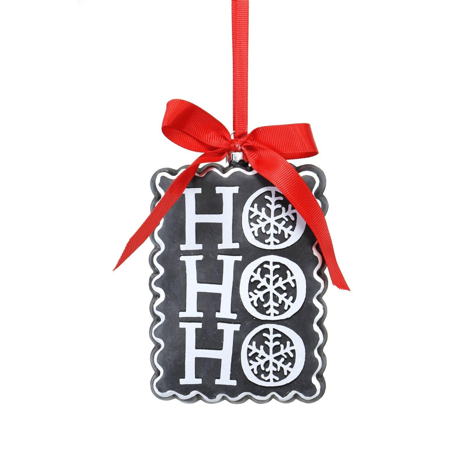 Teters Floral Products Chalkboard Hohoho Ornament Pack