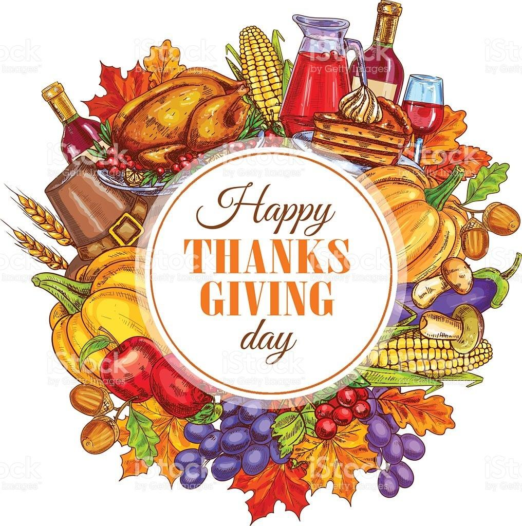 Thanksgiving Day Decoration Design Stock Vector Art