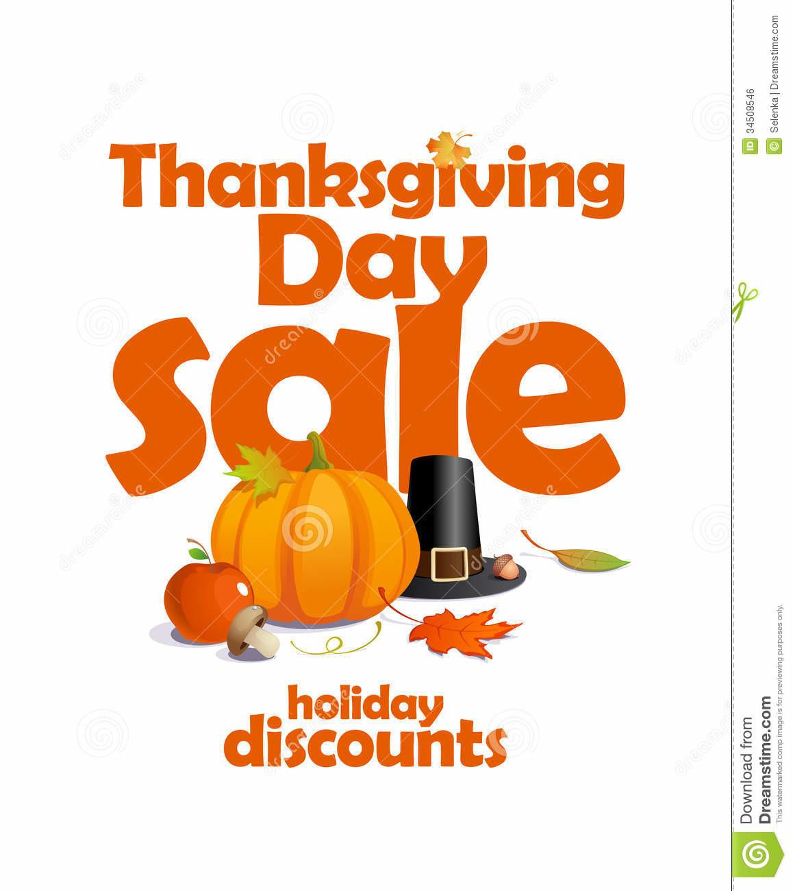 Thanksgiving Day Sale Design Stock Vector