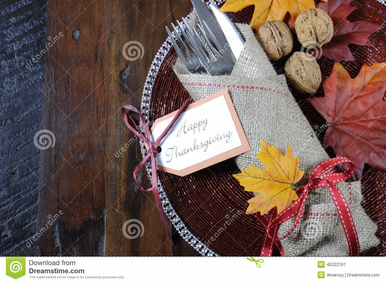 Thanksgiving Dining Table Place Setting Traditional
