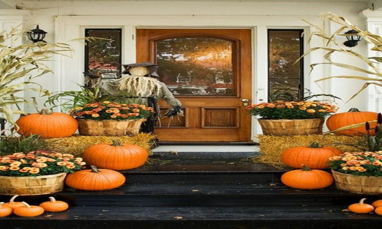 Thanksgiving Door Decor Fall Outdoor Decorating Ideas