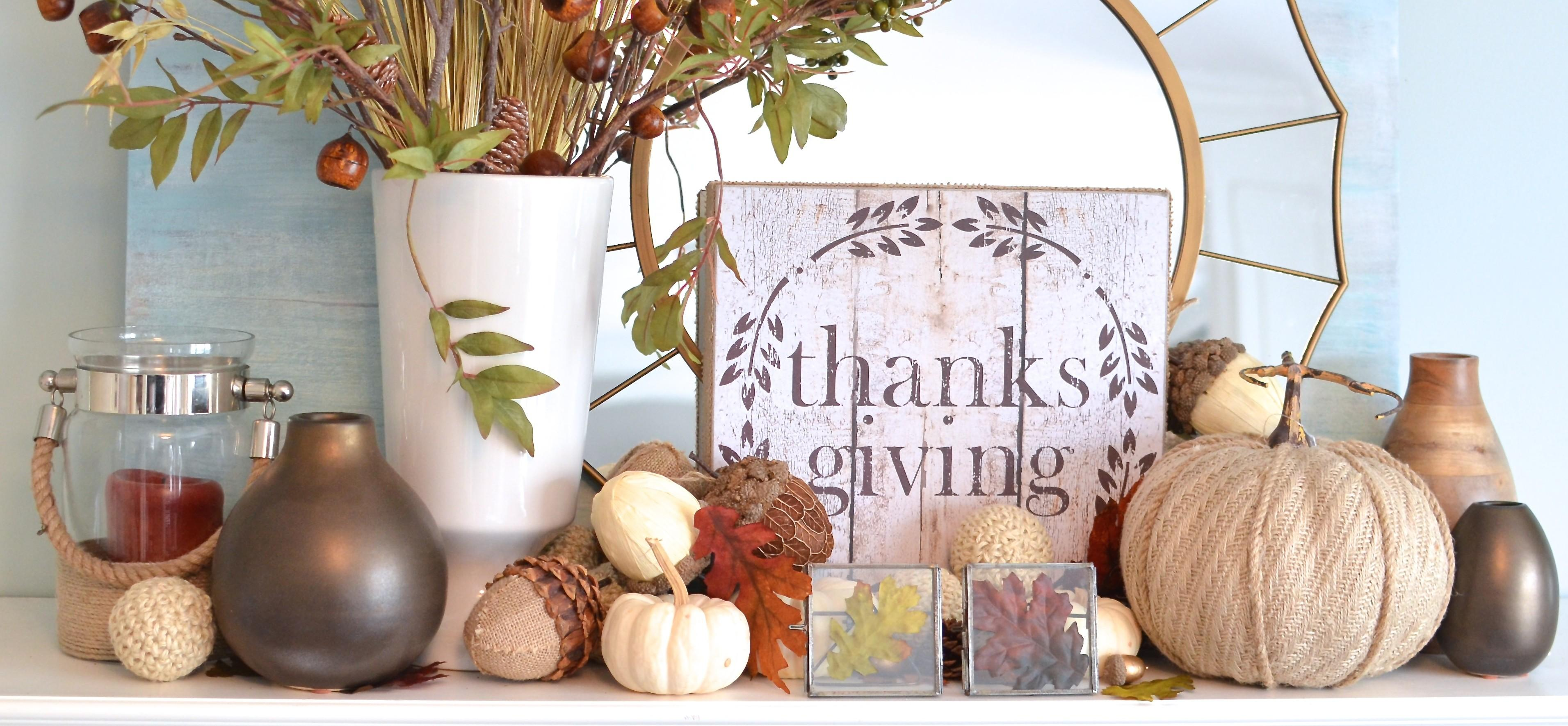 Thanksgiving Mantel 100 Glitter Pop Pretty