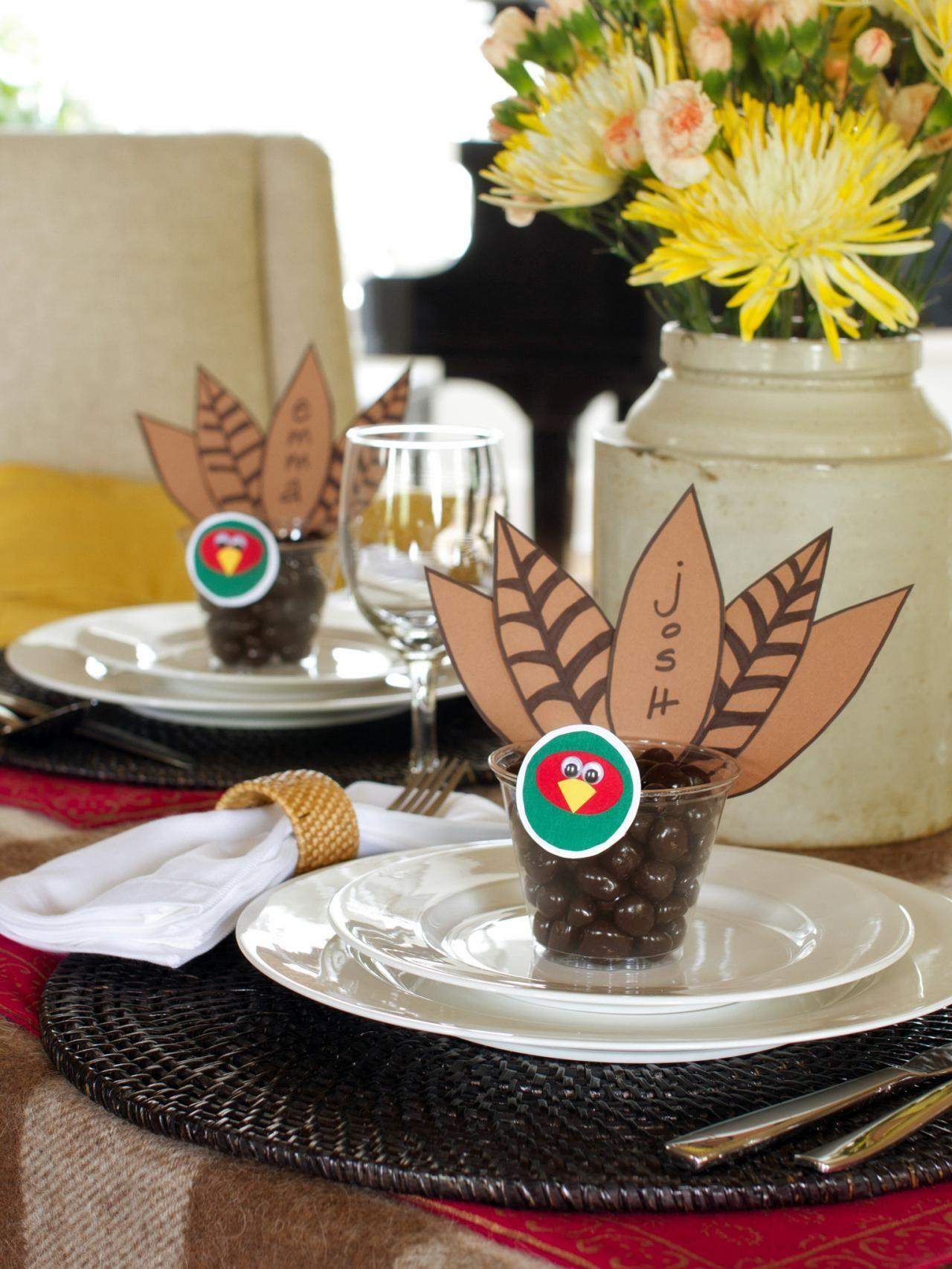 Thanksgiving Place Card Party Favor